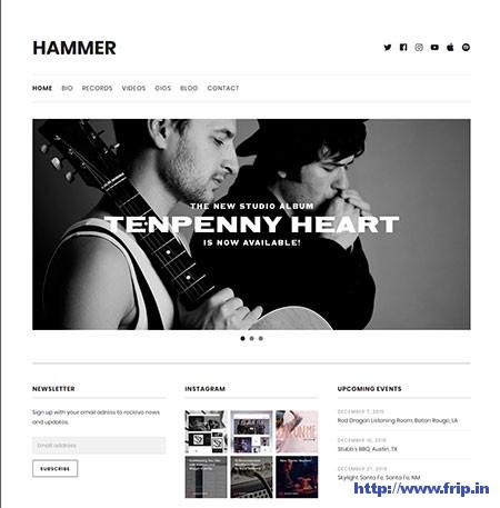 Hammer-Music-WordPress-Theme