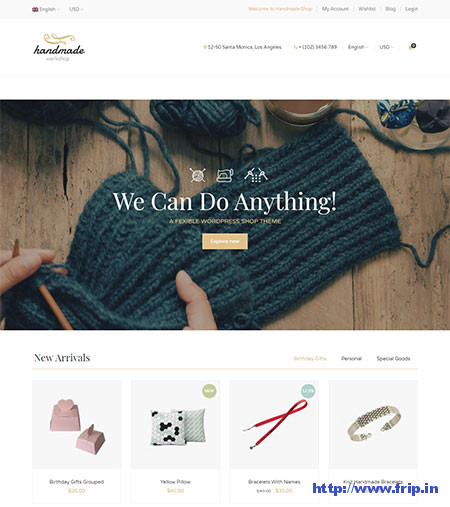 Handmade-WordPress-Theme
