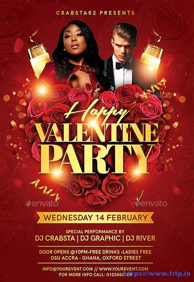 Happy-Valentine-Party-Flyer-Templates