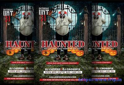 Haunted-Halloween-Flyer