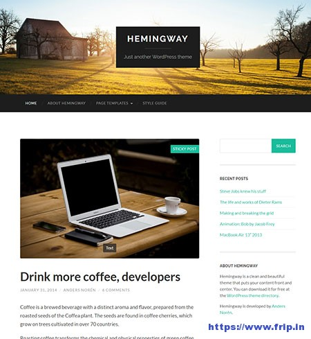 Hemingway-free-Two-Column-Theme