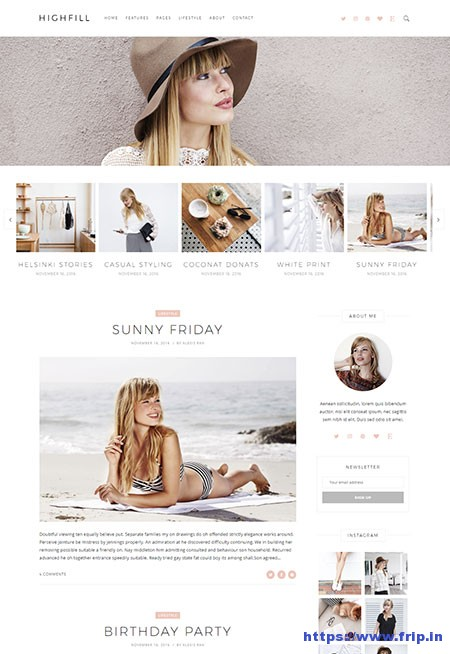 Highfill-Personal-Blog-WordPress-Theme