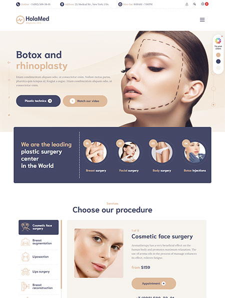 HolaMed-Plastic-Surgery-Clinic-Theme
