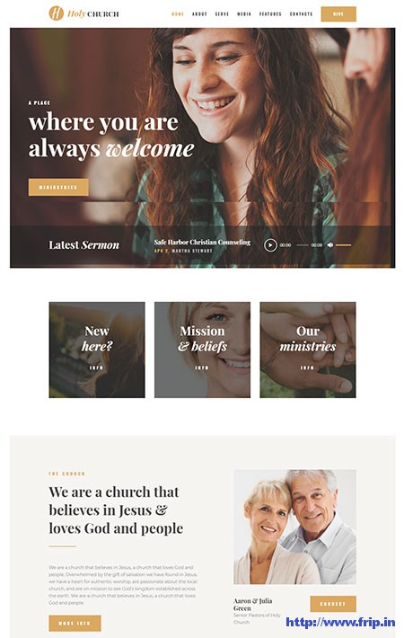 Holy-Church-Non-Profit-WordPress-Theme