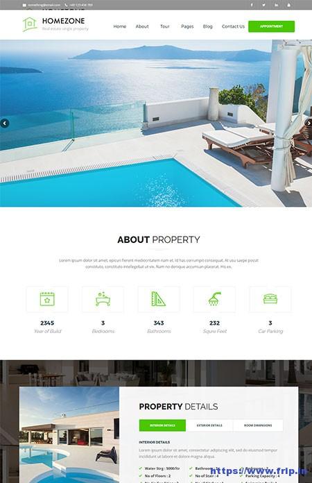 Home-Zone-Single-Property-WordPress-Theme