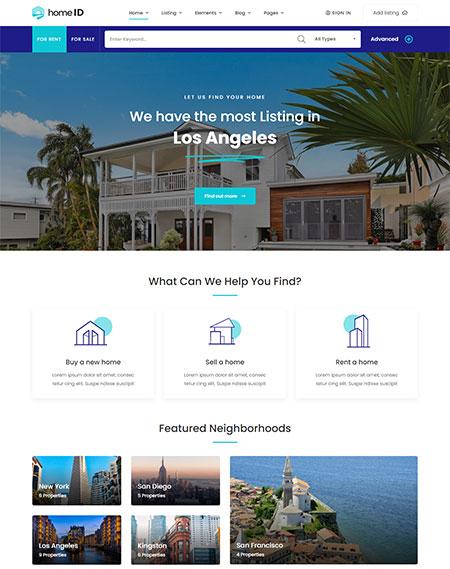 HomeID-Real-Estate-WordPress-Theme