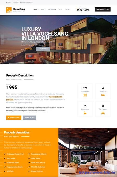 Housesang-Single-Property-WordPress-Theme