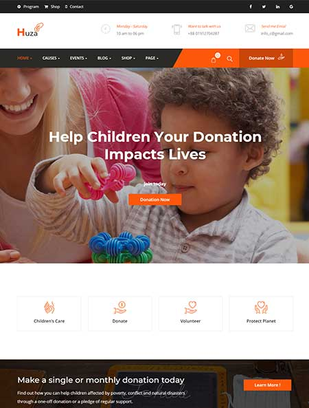 Huza-Charity-WordPress-Theme
