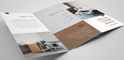 Interior-Design-Trifold brochure