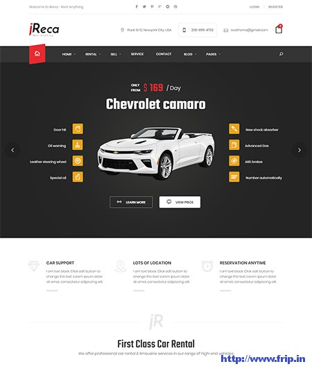 Ireca-Car-Rental-WordPress-Theme