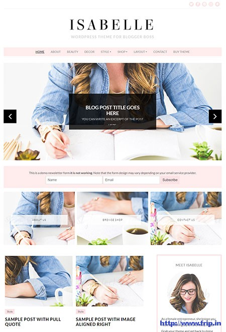 Isabelle-Feminine-WordPress-Theme
