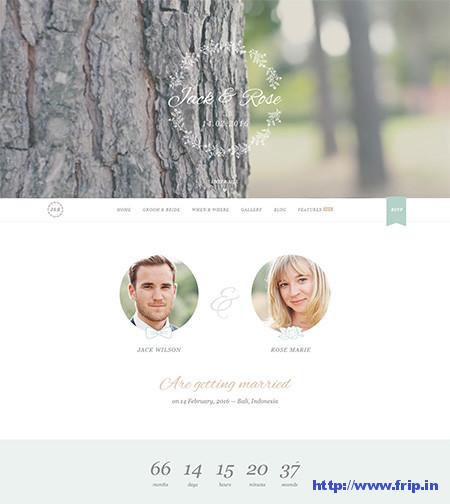 Jack-&-Rose-WordPress-Wedding-Theme