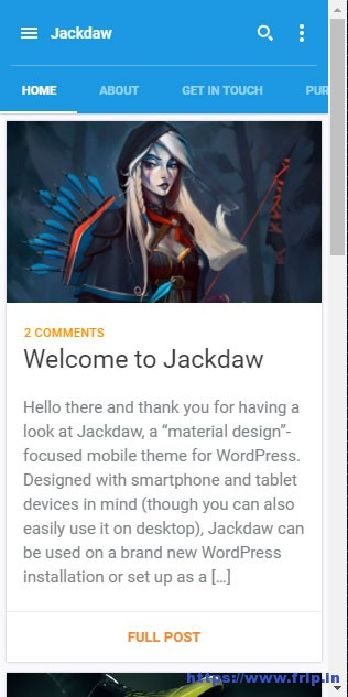 Jackdaw-WordPress-Mobile-Theme