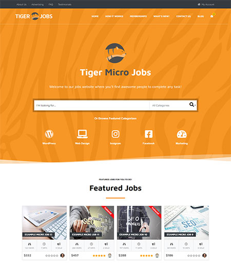 micro jobs wordpress themes