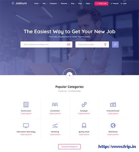 Jobhunt-Job-Board-WordPress-Theme