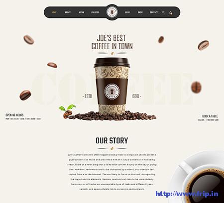 Joe-Coffee-Coffee-PSD-Template
