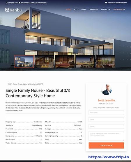 Karibu-Single-Property-WordPress-Theme