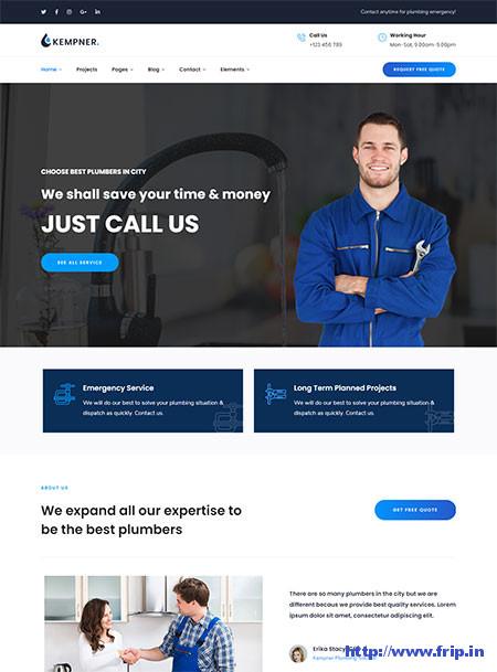 Kempner-Plumber-WordPress-Theme