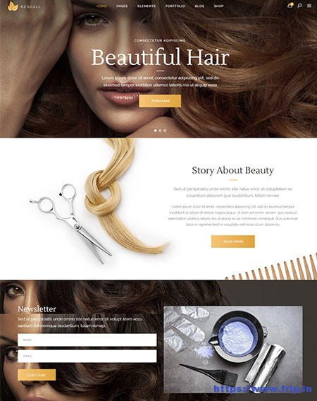 Kendall-Spa-Hair-&-Beauty-Salons-Theme