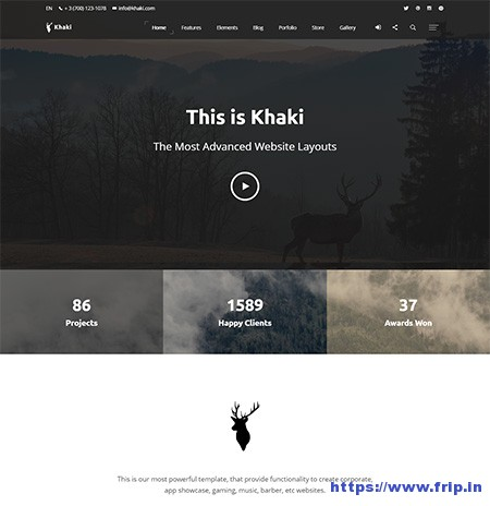 Khaki-Multipurpose-HTML-Template