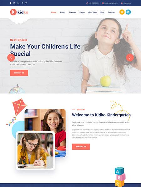 Kidko-Kindergarten-WordPress-Theme