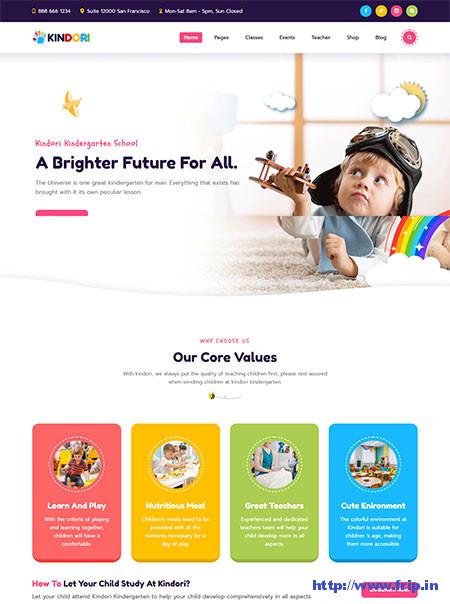 Kindori-Kindergarten-WordPress-Theme