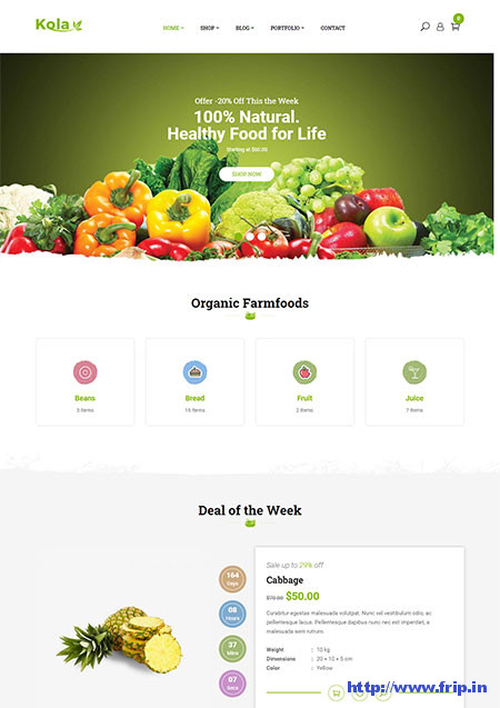 Kola-Organic-Food-WordPress-Theme
