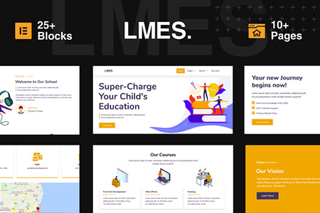LMES--Education-Elementor-Template-Kit