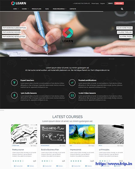 Learn-Educational-&-Courses-Template