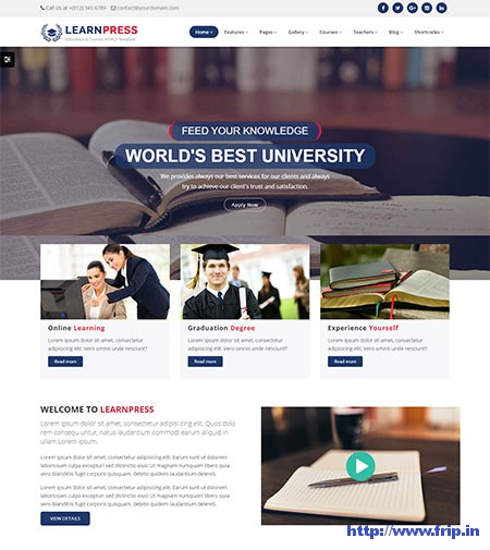 LearnPress-Courses-HTML5-Template