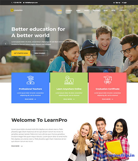 LearnPro--Online-Course-WordPress-Theme