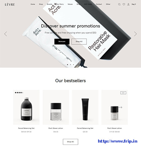 Levre-Cosmetics-Beauty-Shop-Theme