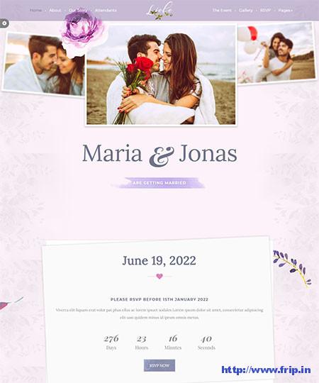 Liebe-HTML-Wedding-Template