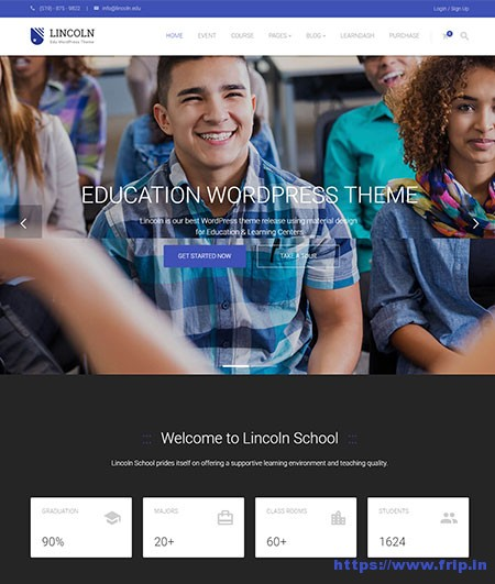 Lincoln-Education-WordPress-Theme