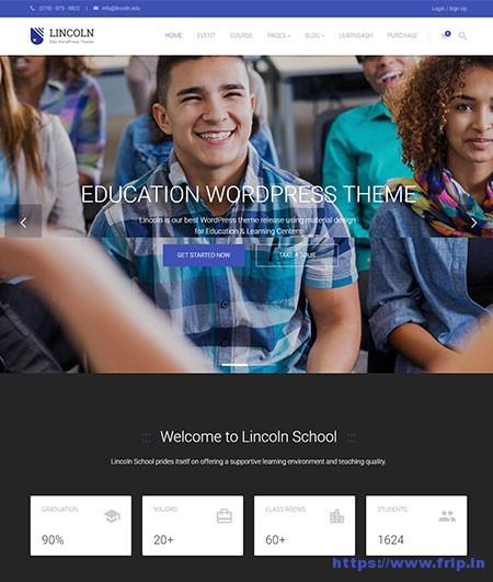 Lincoln-Education-WordPress-Themes