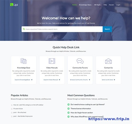 Lipi-Knowledge-Base-WordPress-Theme