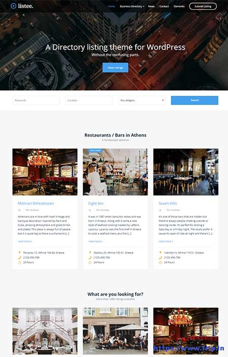 Listee-Business-Directory-WordPress-Theme