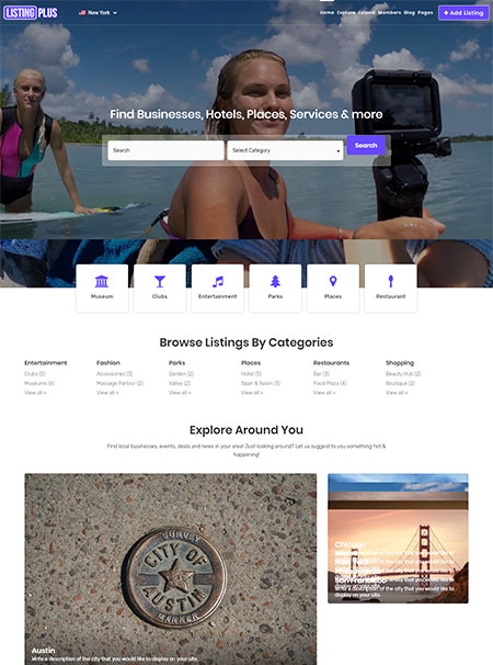 Listing-Plus-Directory-WordPress-Theme