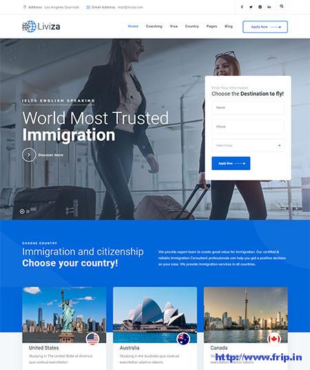 Liviza-Immigration-Consulting-WordPress-Theme