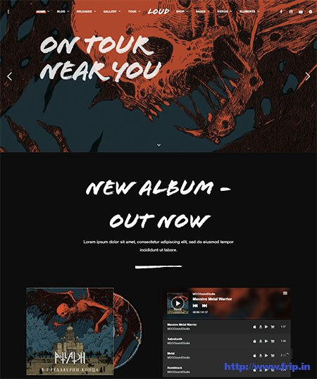 Loud-Music-WordPress-Theme