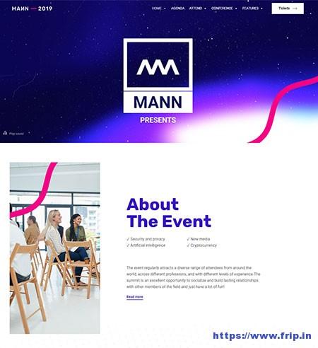 Mann-Event-WordPress-Theme