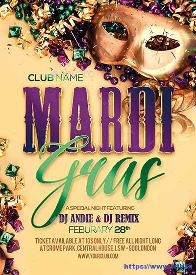 Mardi-Gras-Party-Flyer