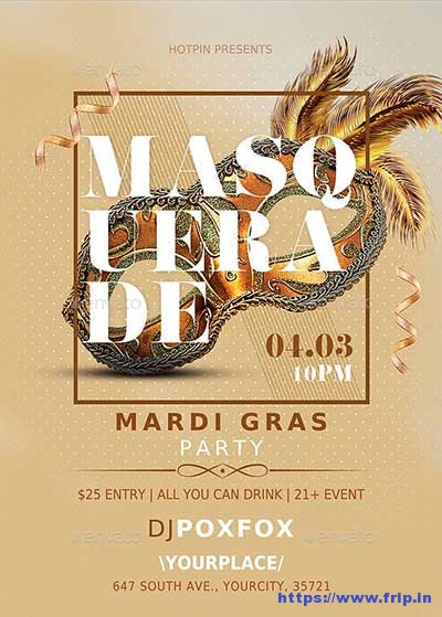 Masquerade-Mardi-Gras-Party-Flyer