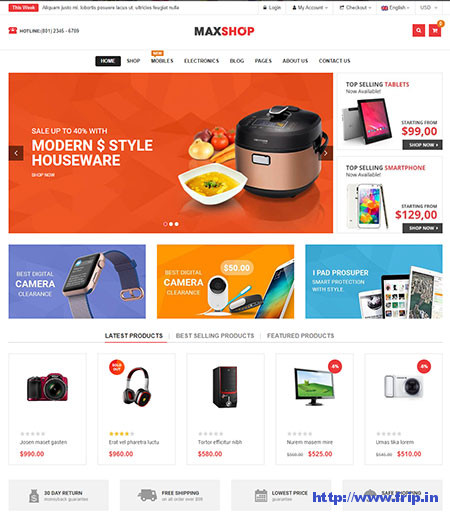 MaxShop-Electronics-Store-Elementor-Theme