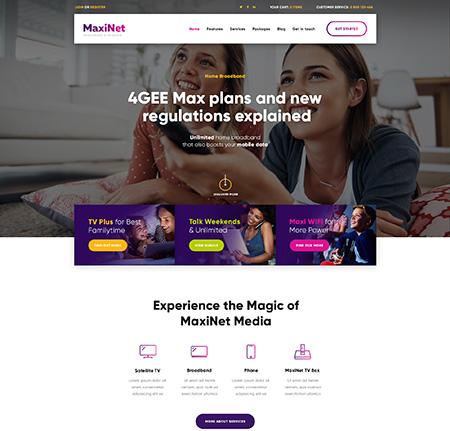 Maxinet-Internet-Broadband-&-Telecom-WordPress-Theme