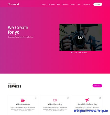 Maxvid-Video-Agency-WordPress-Theme