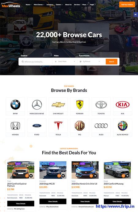 Maxwheels-Car-Dealer-WordPress-Theme
