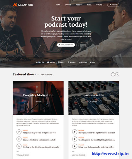 Megaphone-Audio-Podcast-WordPress-Theme