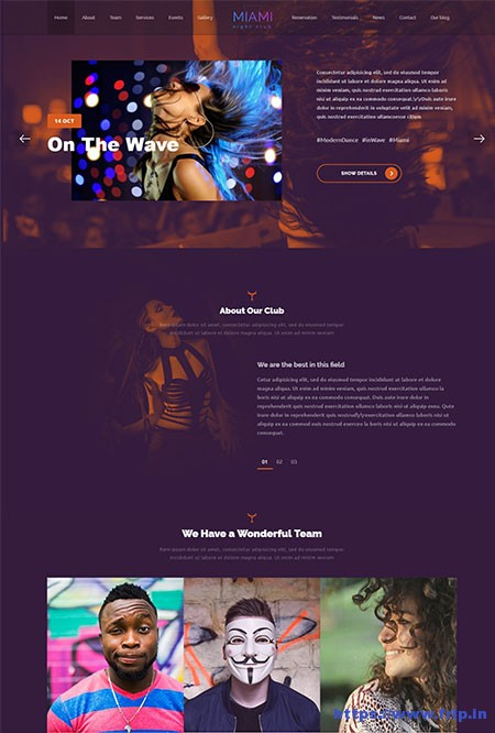 Miami-Night-Club-WordPress-Theme