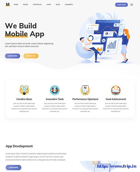 Milu-App-Landing-Page-WordPress-Theme